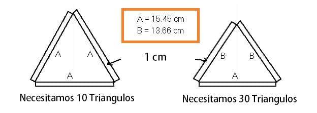 contruir en papel icosaedro