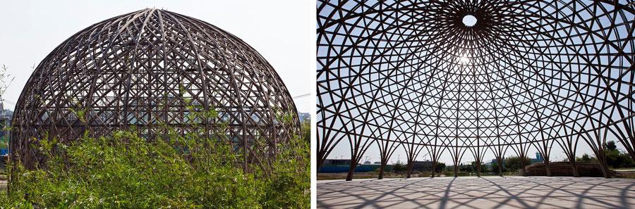 cupula bambu geodesica