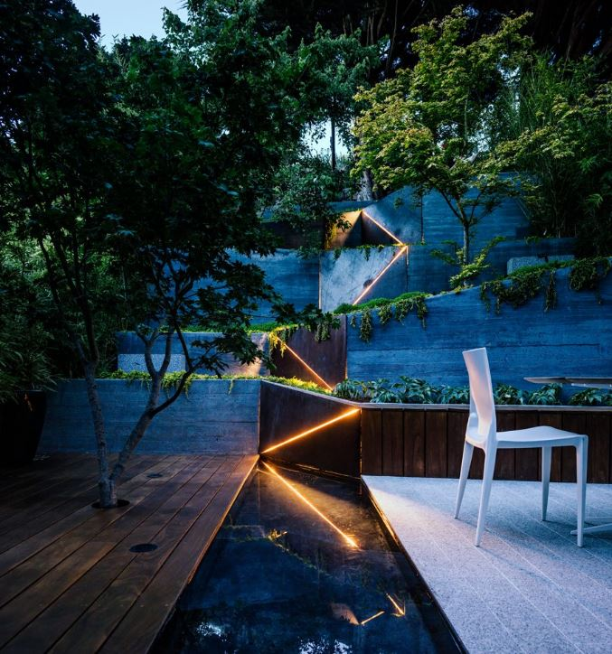 terraza ajardinada