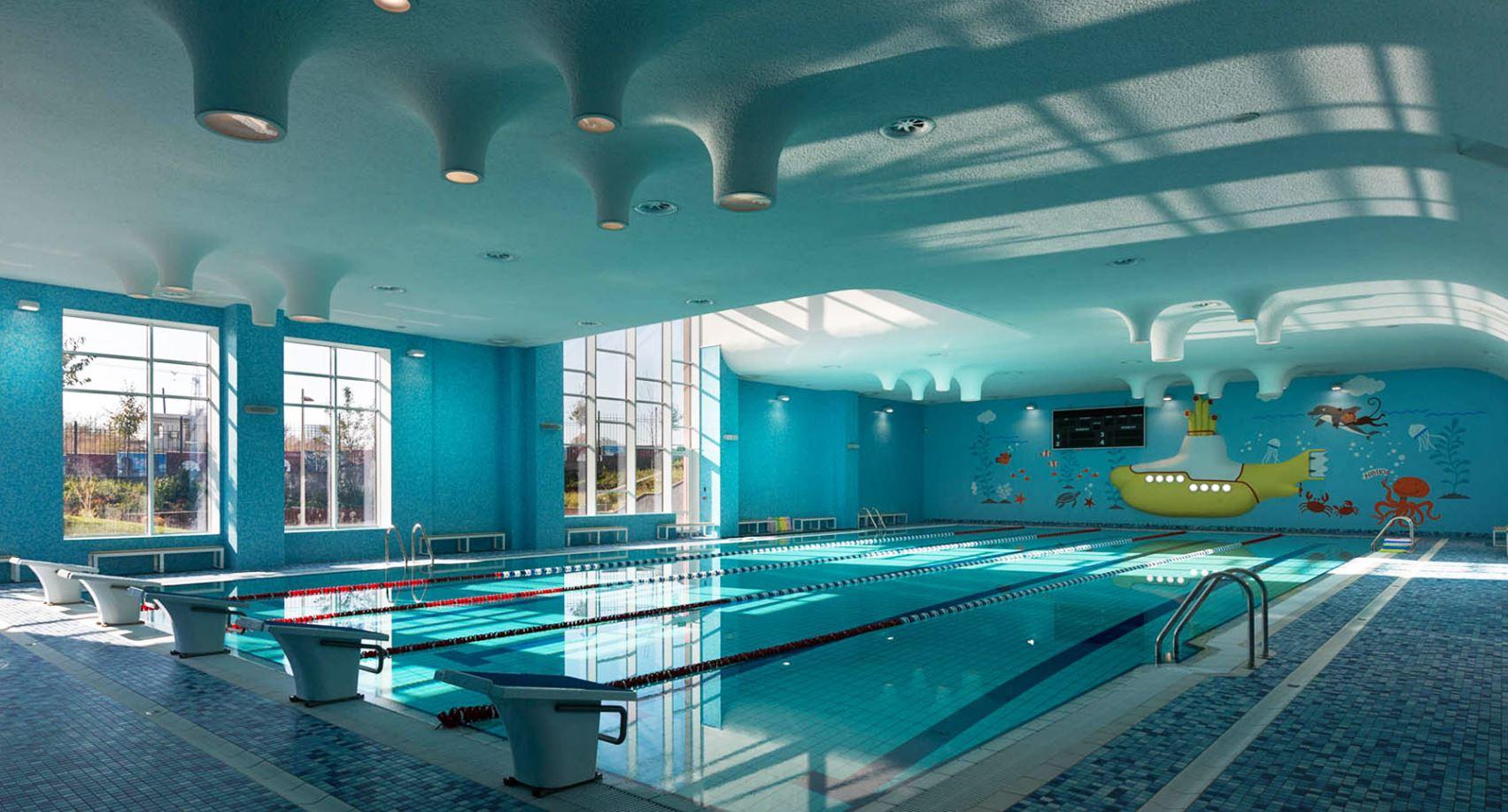 piscina en la escuela