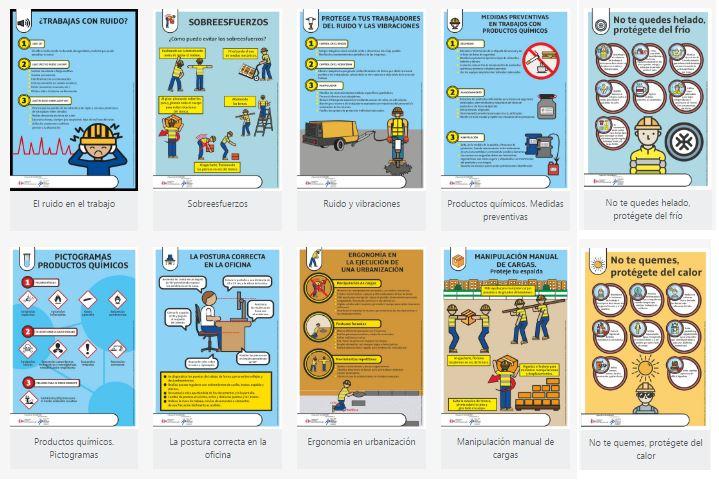 carteles informativos riesgos de ergonomicos