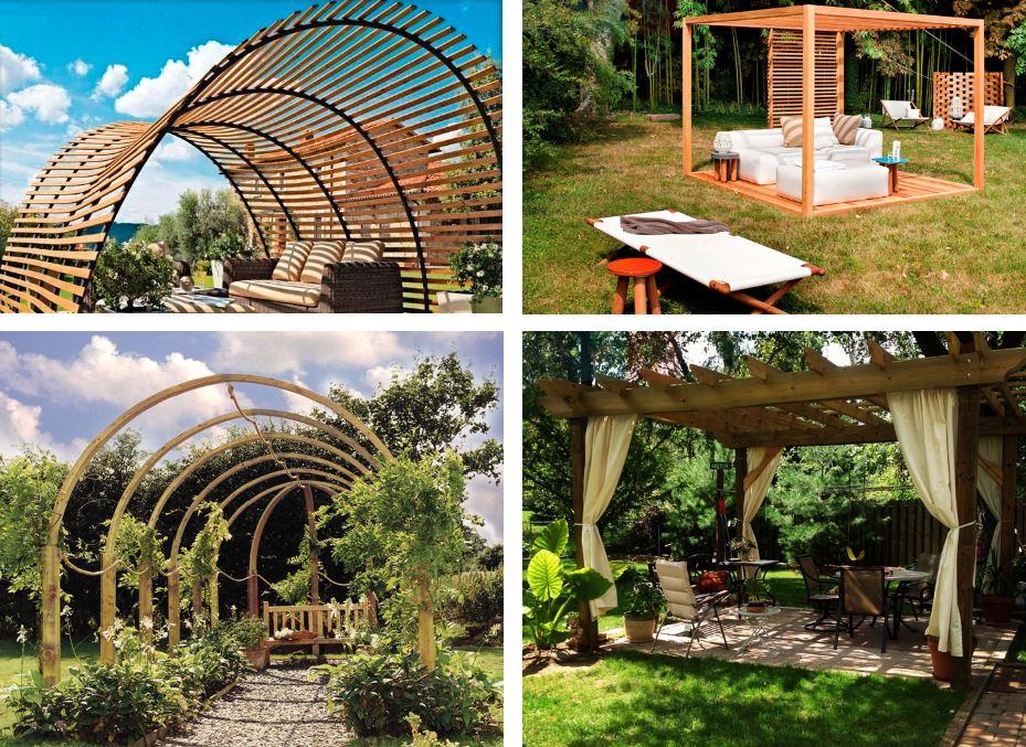 Tipos de p rgolas en jard n y porches de madera con ejemplos ovacen - Pergolas baratas para jardin ...