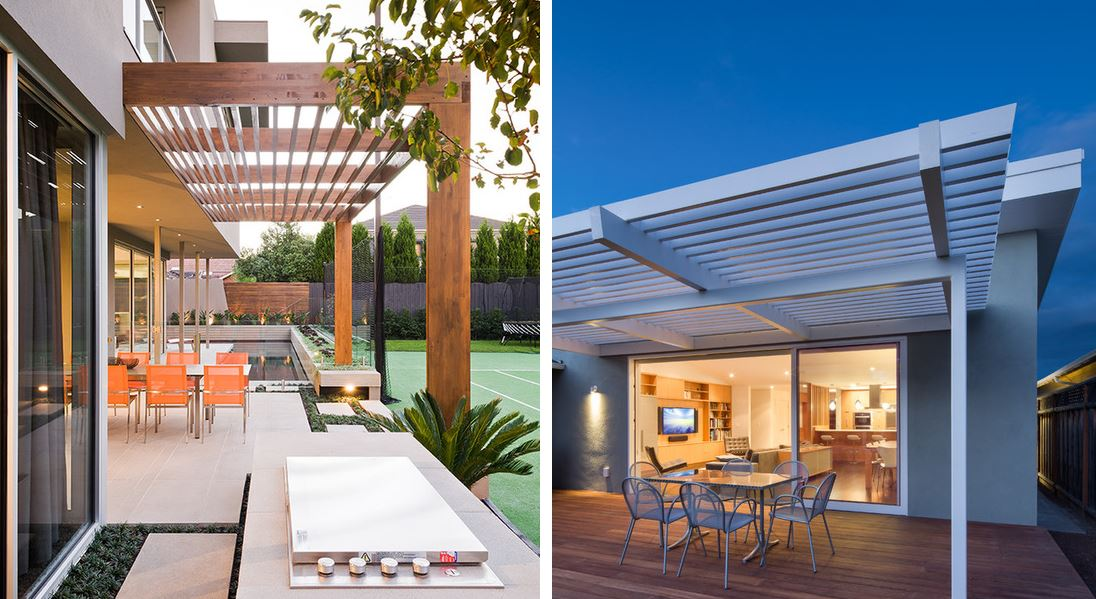Tipos de p rgolas en jard n y porches de madera con ejemplos ovacen - Pergolas minimalistas ...