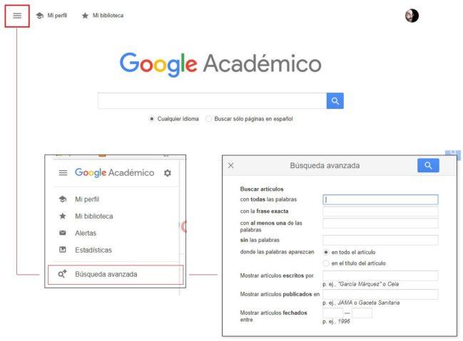 búsqueda avanzada google académico