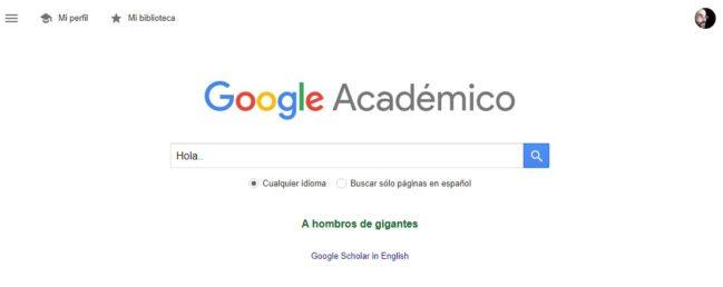 búsquedas con google académico