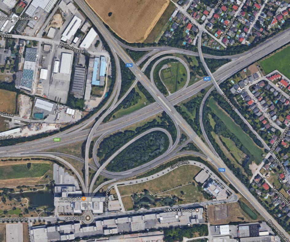 intersecciones de carreteras