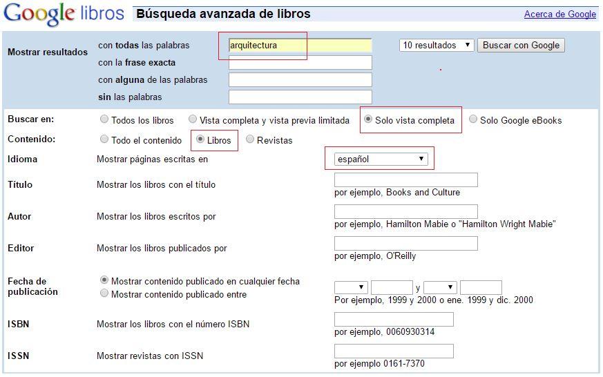 buscar libros en google