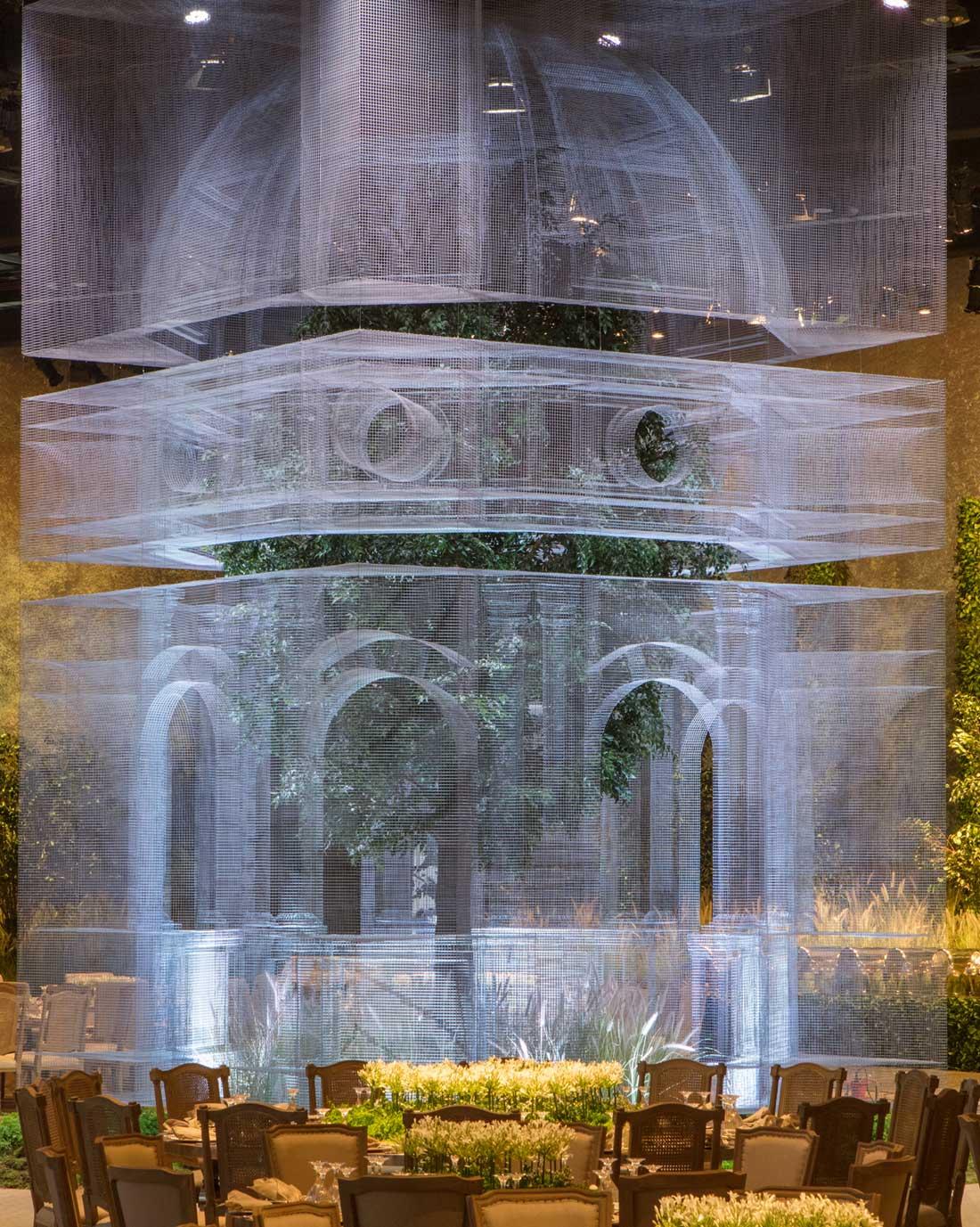 cúpula con acero