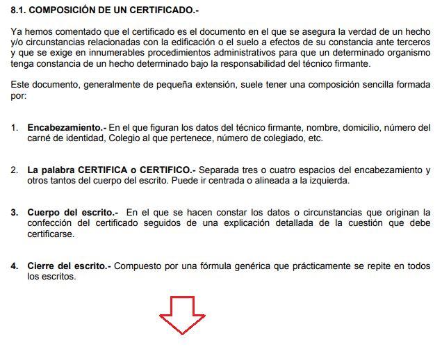 como redactar un certificado