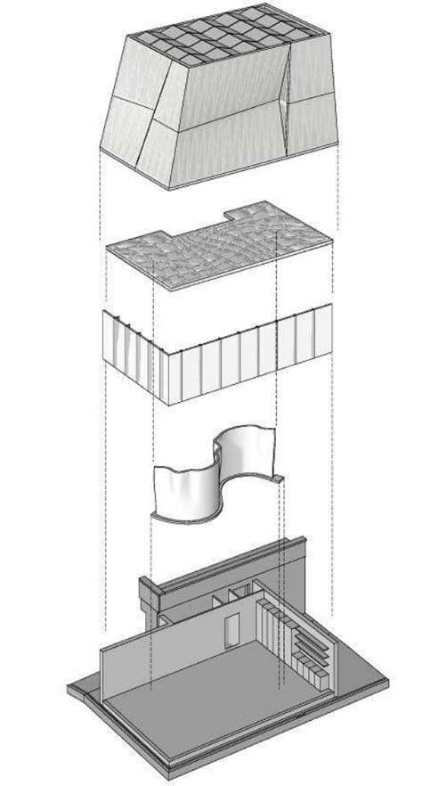 edificios complejos con robots