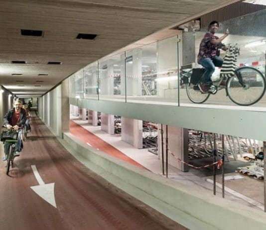 aparcamiento subterraneo para bicicletas