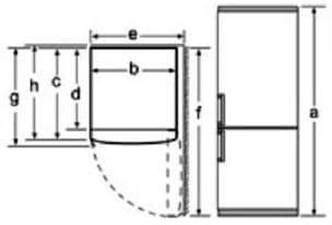 medidas de un frigorífico