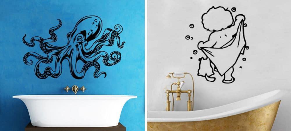 baños con decoración de vinilos