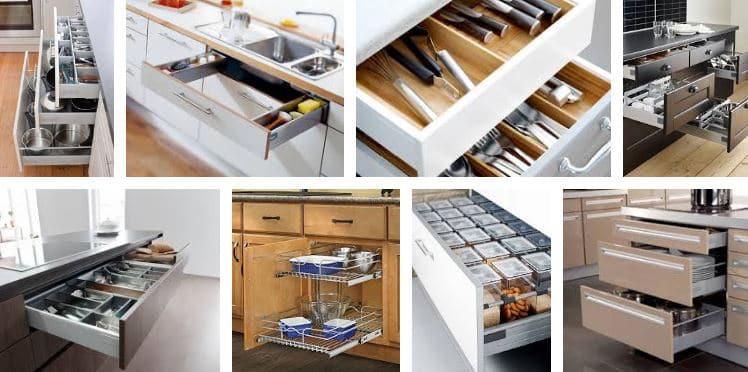 13 ideas para dise o de cocinas modernas tiles e integrales ovacen - Interiores de cajones de cocina ...