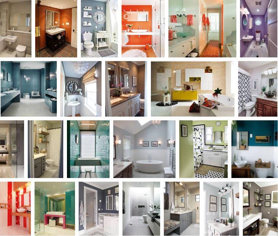colores en baños