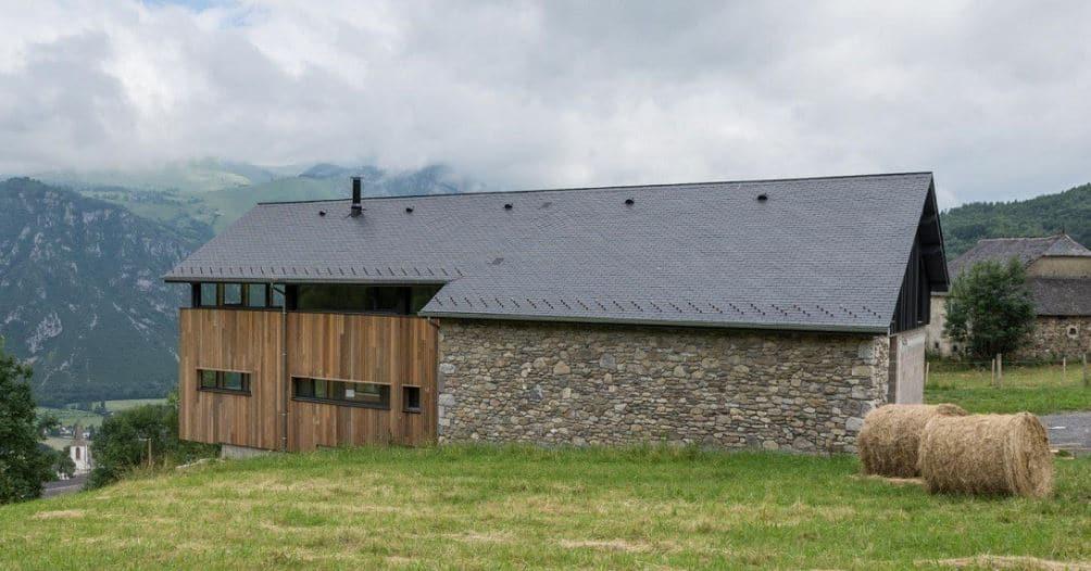 casa cubierta solar pizarra