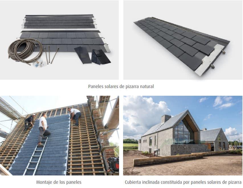 paneles solares pizarra natural