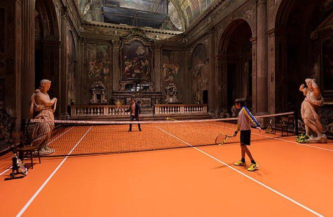 pista de tenis original