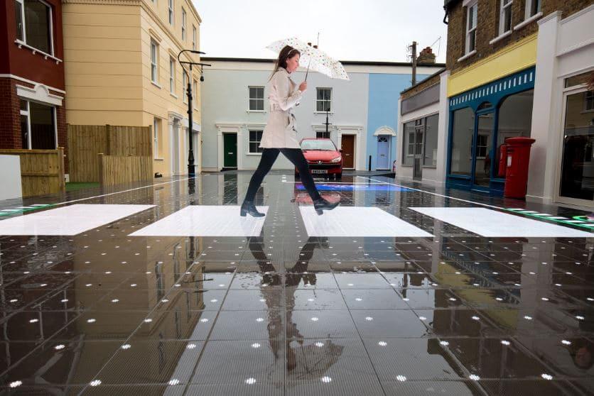 vías interactivas en ciudad