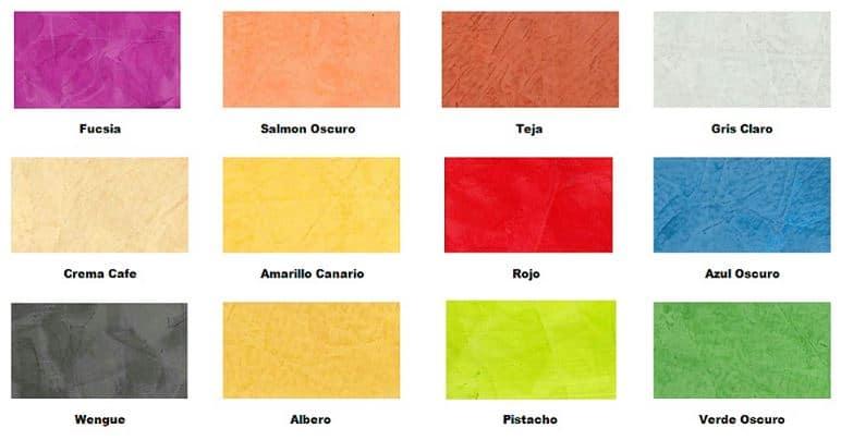 carta colores estuco veneciano