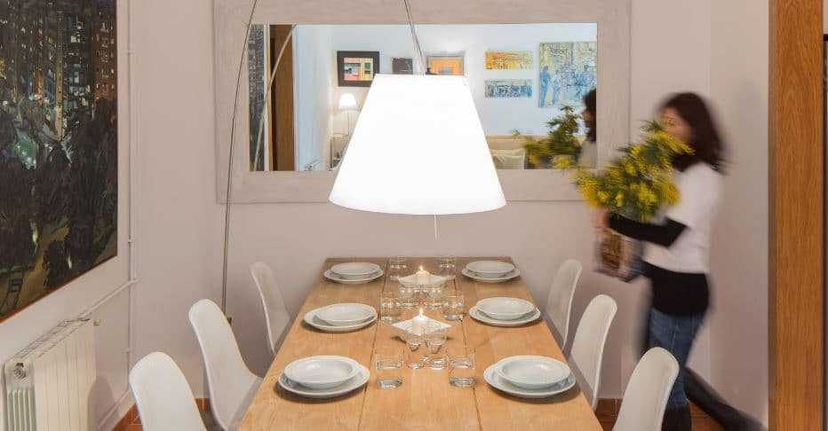 comedor con diseño home staging