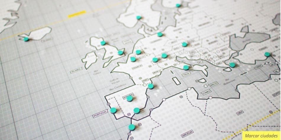mapa regalo geométrico