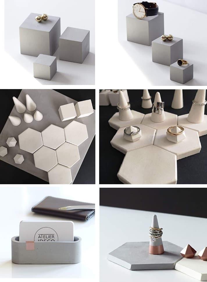 objetos regalo hormigón para arquitectos
