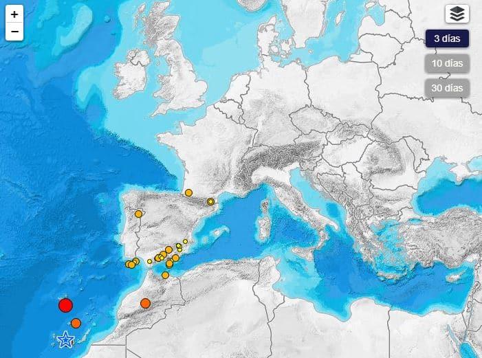 terremoto en tiempo real