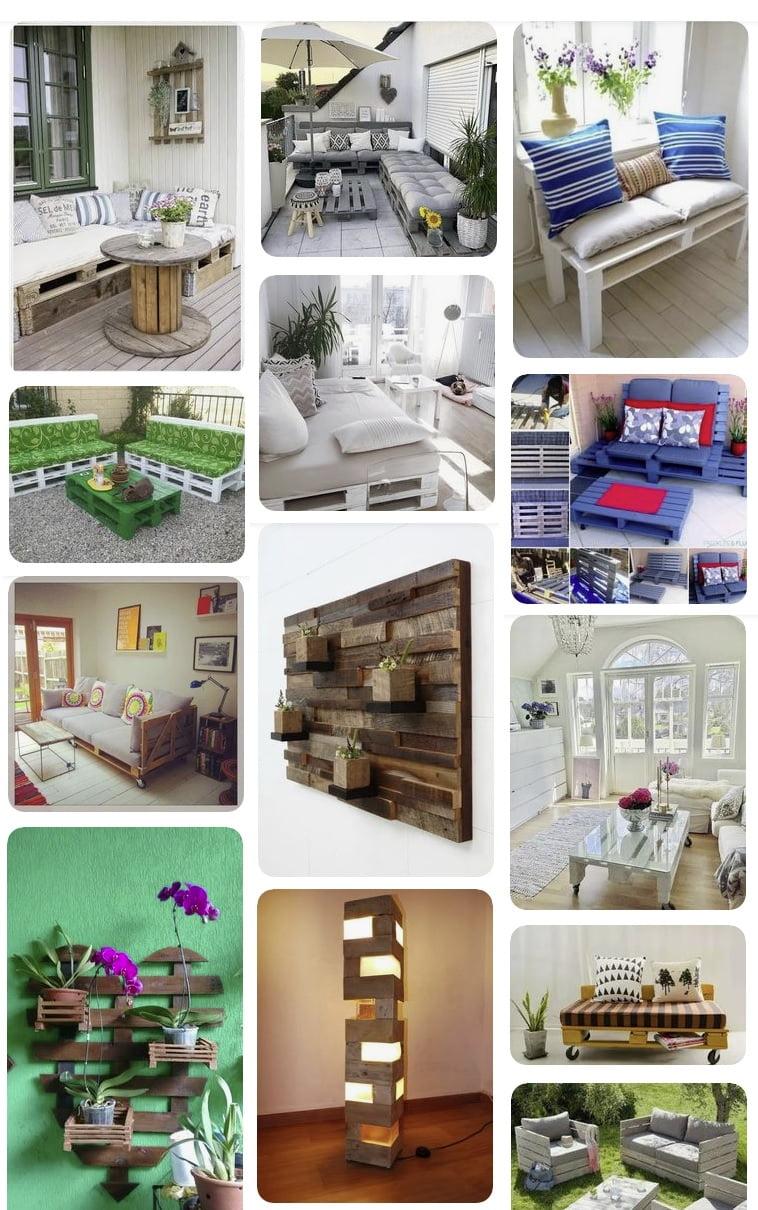 fotos mobiliario fabricado con palets