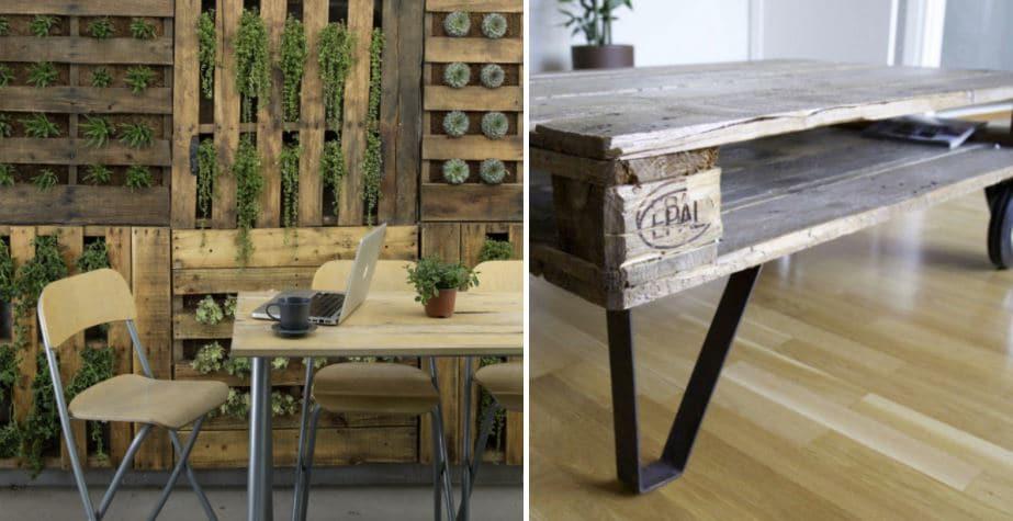 muebles con palets reciclados