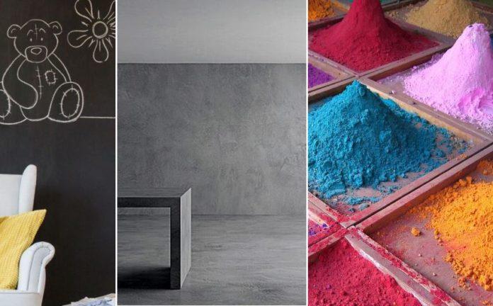 Pintura decorativa para paredes tipos y c mo aplicar ovacen - Revestimiento paredes interiores pizarra ...