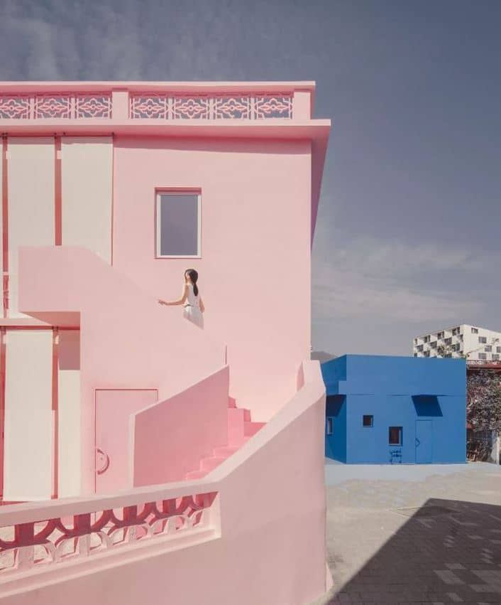 fachada rosa