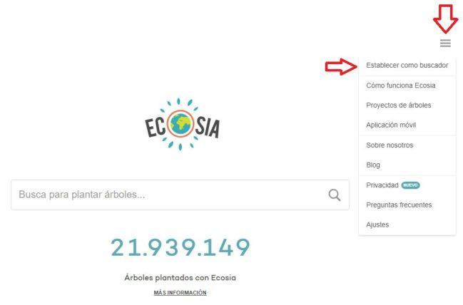 internet ecologico ecosia