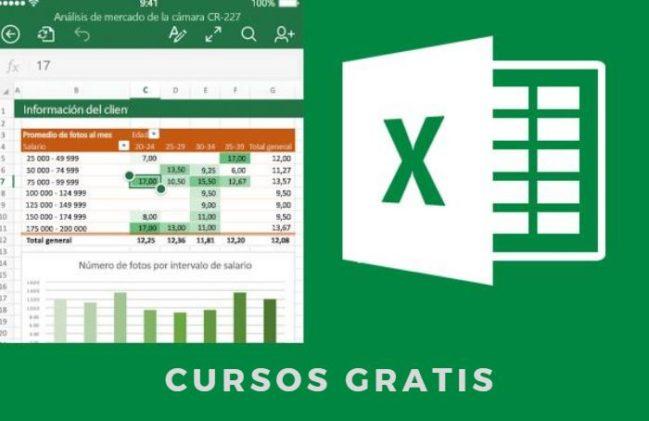 5 Cursos de Excel online Gratis por la UPV (Básico, Medio y Avanzado)