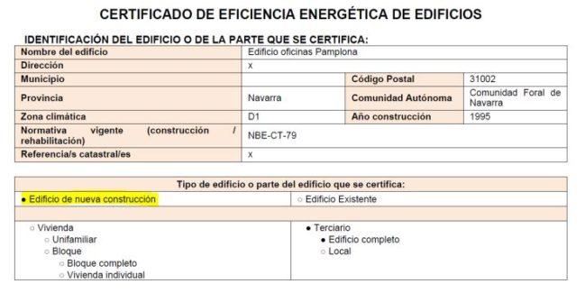 resultado informe certificación energética