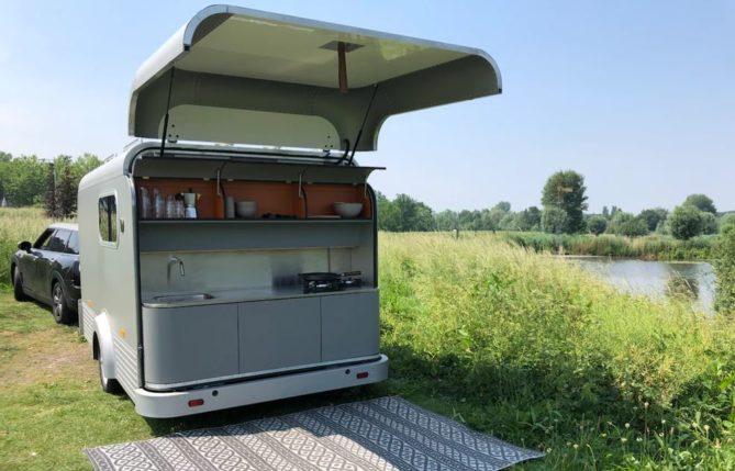 cocina de la caravana