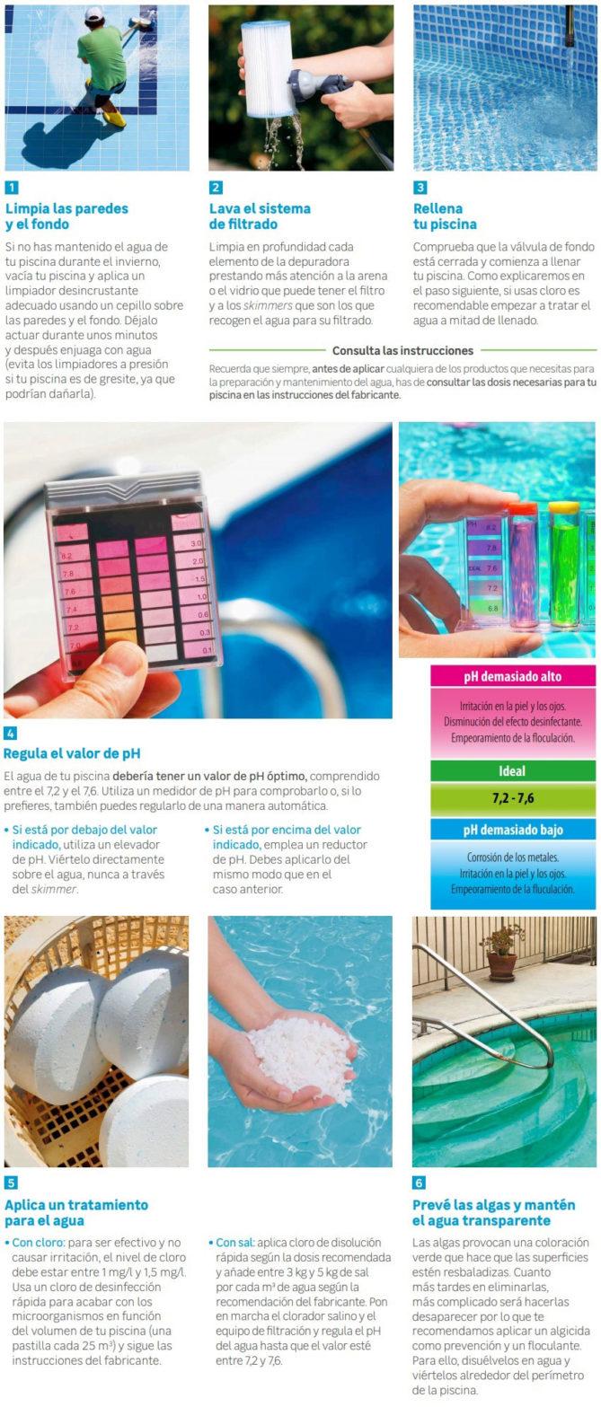 consejos limpieza de piscinas