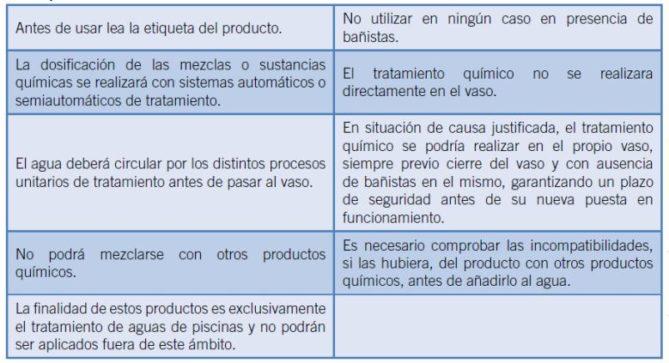 consejos tratamientos químicos para piscinas