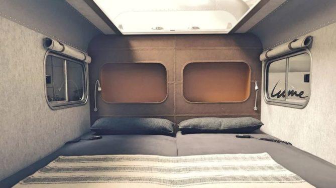 dormitorio en una caravana