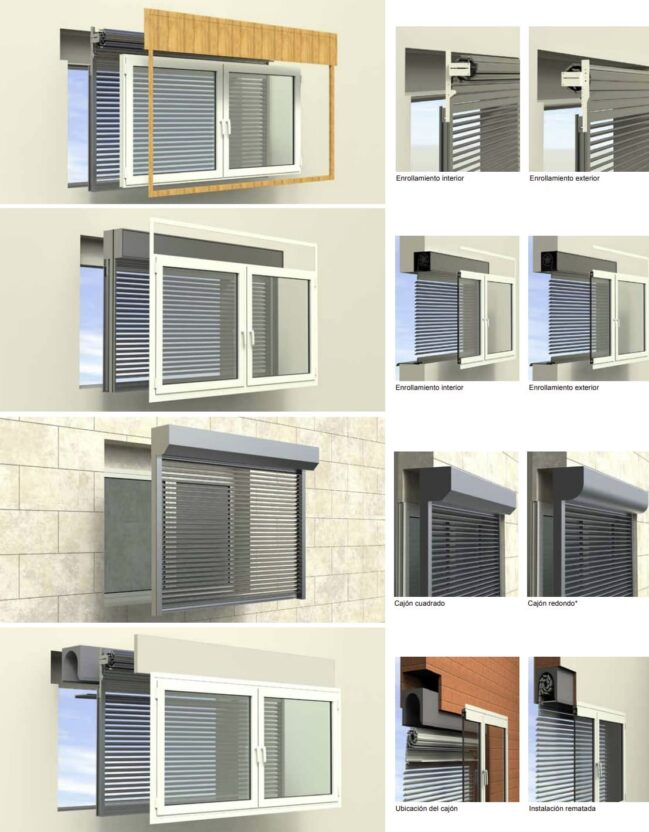 instalación para persiana exterior