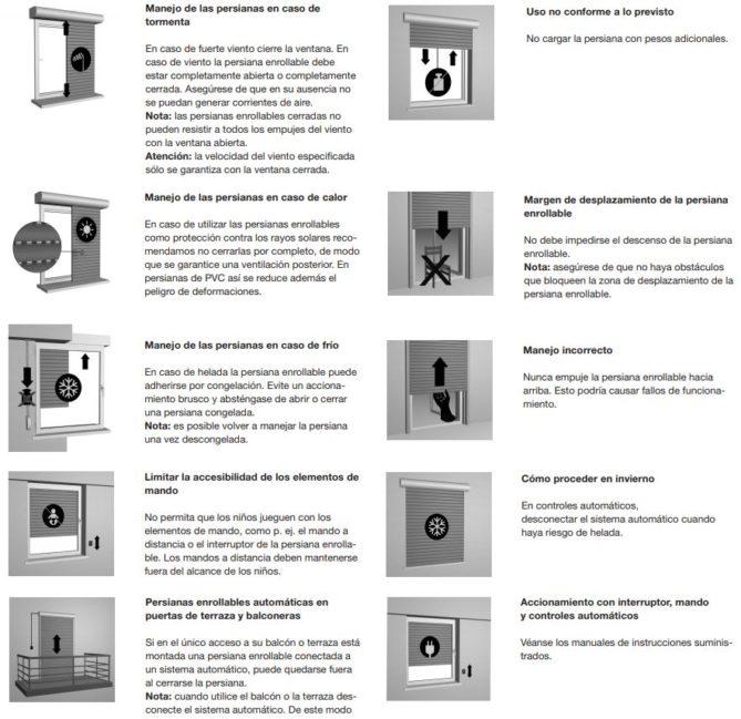 mantenimiento y uso de persianas