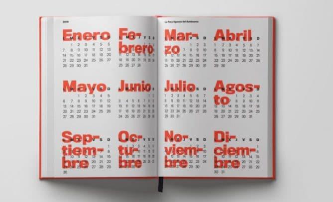 calendario para agenda