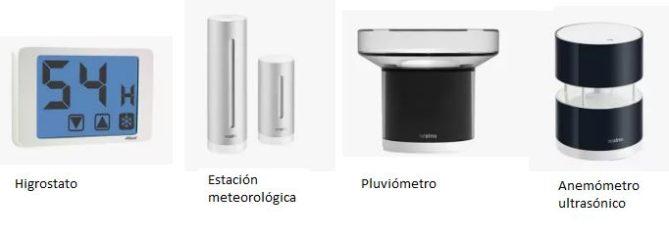 pluviómetro accesorios termostatos