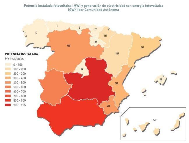 potencia solar por comunidades