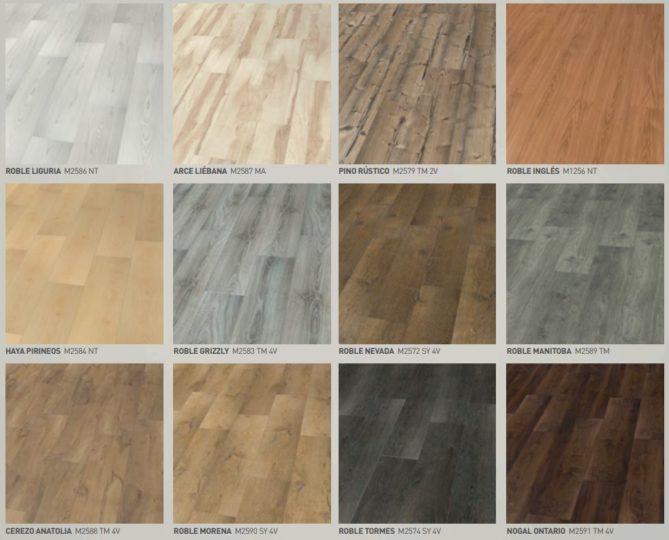 colores de los suelo laminados