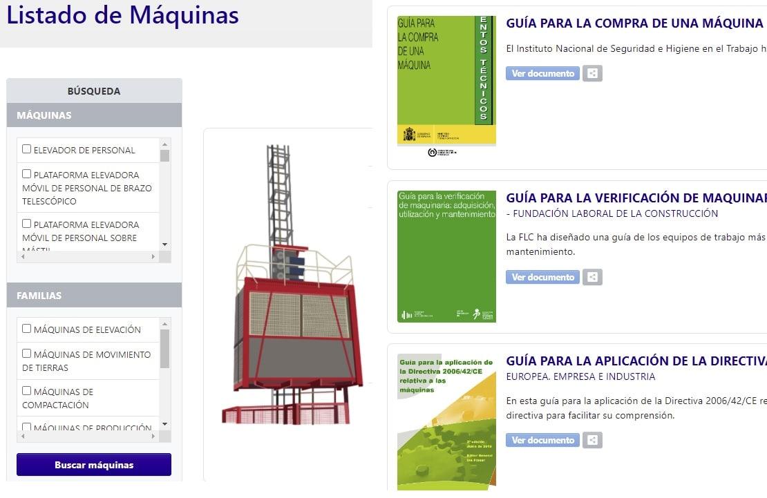maquinaria sector construcción y obras