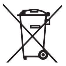 símbolo prohibición contenedor de basura