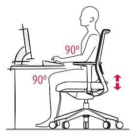 posicion correcta para sentarse