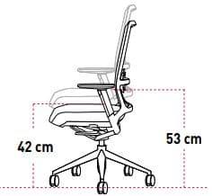 regulacion en altura silla
