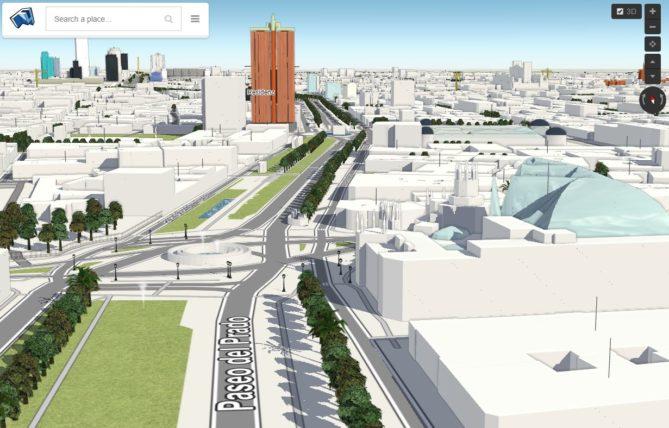 mapa ciudad madrid 3d